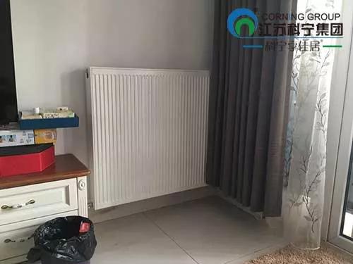 清新家园200㎡明装暖气片施工案例
