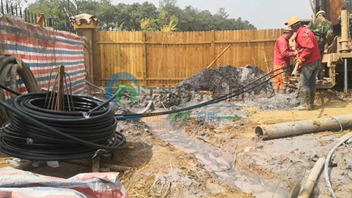 卧龙湖小镇紫楠园地源热泵施工日记