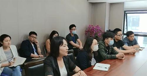 暖立方传媒总裁张克城一行来江苏科宁集团访问交流