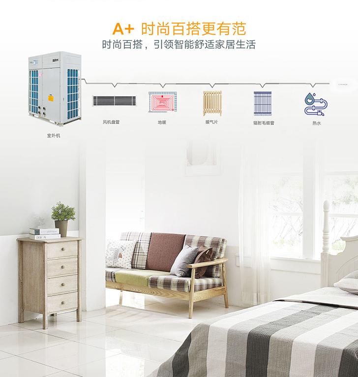 麦克维尔A+系列变频中央空调地暖一体机